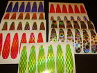 T4 Hagen's Thin Trolling Spoon Die Cuts 12 PK Holographic Fishing Lure Tape