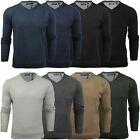 Mens V-Neck Jumper by Brave Soul Long Sleeved