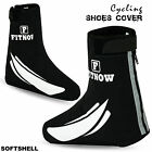 Cycling Shoe Cover Waterproof Windproof Outdoor Bicycle Overshoe Softshell Black