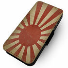 Worn Rising Sun Flag - Printed Faux Leather Flip Phone Cover Case #1