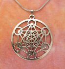 Metatron's Cube Necklace, Sacred Geometry Archangel Metatron Pendant Medallion