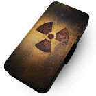 Nuclear - Printed Faux Leather Flip Phone Cover Case Symbol Black & Yellow #1