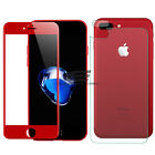 3D Full Cover Front Back Tempered Glass Screen Protector For Red iPhone 7 Plus