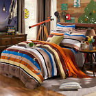 Moon Start Cotton Stripe Double/Queen/King Size Bed Quilt/Duvet Cover/Sheet Sets