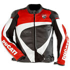 QMUK Mens Biker Leather Jacket with CE approved protection