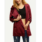 Women Fashion Trench Warm Hooded Long Coat Jacket Windbreaker Parka Outwear
