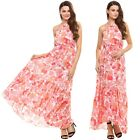 New Beach Dress Floral Dress Sleeveless Chiffon Sundress Bohemia Maxi Long Dress