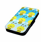 Graphic Bee Designs Printed Faux Leather Flip Phone Cover Case #2