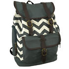 Canvas Laptop Backpack Printed Chevron Bookbag School Bag Ipad Tablet Daypack