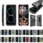 For Samsung Galaxy S8 G950 Rugged Dual Layer Holster Belt Clip Kickstand Case