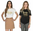 Bride Tribe T-shirt Top Wedding Hen Do To Be Party Bridesmaid Bridal Shower Set