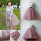 6 Layers lace Maxi Long Tulle Skirt Celebrity Skirts womens Adult Tutu Ball Gown
