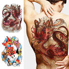 Big Large Temporary Tattoo Sticker Full Back Dragon Tiger Pattern Body Art Decal $5.29 USD