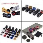 Clip-On 3 in 1 UNIVERSAL Camera Lens Set for iPhone/Samsung/Smart Phones/iPads
