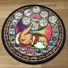 Pokemon Go Eevee Circle Anime Velboa Floor Rug Carpet Room Doormat Non-slip Mat