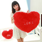 Fashion New Pillow Rose Plush Red Heart-shaped Love Valentine Pillows #G Gifts