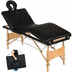 Table de massage 4 zones cosmetique lit esthetique pliante bois reiki +sac