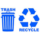 Recycle Trash Symbol Decals Choose Color & Size Durable  long lasting  sticker