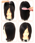 7x9cm Silk straight  Mono Lace hairpiece 100% Human Hair Topper Toupee Hairpiece