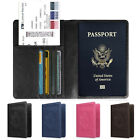 Travel Leather Passport Ticket Organizer Holder Card Case Protector Cover Wallet