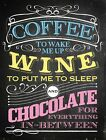 COFFEE TO WAKE ME UP WINE TO PUT ME TO SLEEP - PROSECCO - METAL PLAQUE SIGN 903