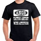 Danger Tattoo Artist with attitude T shirt tee funny ink artist art all sizes