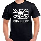 Conflict The ungovernable force skull anarchy  T shirt Tee all sizes and colors