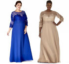 Long Sleevee Mother of The Bride Dresses Chiffon Plus Size Evening Gowns HD253