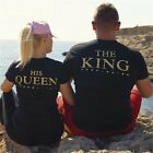Couple T-Shirt The King and His Queen Love Matching Shirt Blouse Tee Top Hoodie image