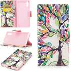 Luxury PU Leather Wallet Stand Case Cover Card For Phones Colored Life Tree