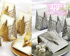 Wedding Favour Candy Gift Boxes | Decoration | Gold or Silver with Ribbon