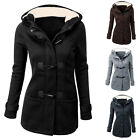NEW FASHION WINTER WARM WOMENS LADIES HOODED TRENCH PARKA JACKET COAT OVERCOAT