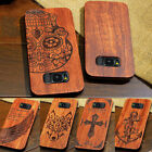 natural patterns - 100% Natural Wooden Wood Bamboo & PC Case Cover For Samsung Galaxy S8 & S8 Plus
