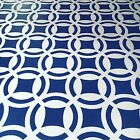 Hand-Painted Blue & White Venetian Tile Floorcloth - Choose Your Size