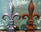 Cast Iron Metal Fleur-de-Lis Finial Home Garden Yard Lawn Fencing Hardware Decor