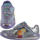Girls SIZE 6 - 12 Lilac Trainers DISNEY FROZEN Touch Fastening NEW