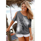 New Women Casual Basic Summer Printed T-shirt Sexy Tee Shirt Top Plus Size