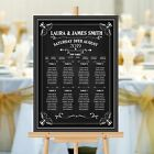 Personalised Wedding Table Seating Plan Vintage Chalkboard N156 Large A1 A2 A3