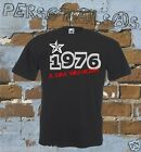 T-SHIRT DATE OF BIRTH 1976 A STAR WAS BORN gift idea humor funny