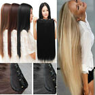 "16"" -24""One Piece Extensions Long Thick Clip In 100% Human Hair Extensions 140g"