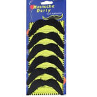 6 Moustaches Mexican Stick On Tashe Stag Do Party Borat 70s 80s Black Gangster