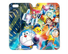 Doraemon all  pass through  phone shell case for Iphone 5s /5c/6/4s new AH80