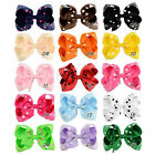 4.5 Inch Girls Baby Dot Bows Hair Bows Baby Boutique Hair Clips Hair Accessories