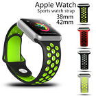Soft Silicone Fitness Replace Sports Wrist Strap Watch Band For Apple Series 2/1
