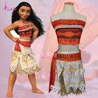 Kids Costume Disney Moana Princess Girls Fancy Dress Cosplay Womens Deluxe Dress