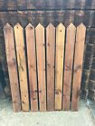Round Top & Pointed Top Picket Garden Fence Panels Wood Pales 4ft 1.2m High