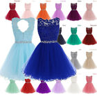 Short Tulle Applique Bridesmaid Formal Ball Party Evening Homecoming Prom Dress