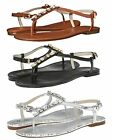 Michael Kors Womens Jayden Flats Jeweled Ankle Strap Buckle Sandals Shoes