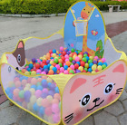 Children Baby Boys Girls Ocean Ball Pit Pool Game Play Tent with Basketball Hoop