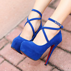 New Women High Heels Pumps Spring Summer Autumn Platform Suede Shoes Fashion